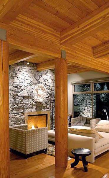 Design dell interno della casa di legno for Interno della casa