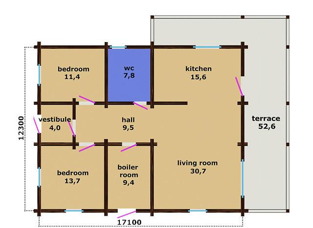 Casa in legno profilato realizzata su due livelli di 179 m2 for Costruttori di case su due livelli