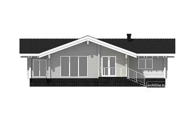 casa di legno lamellare in stile nord europeo 156 m2