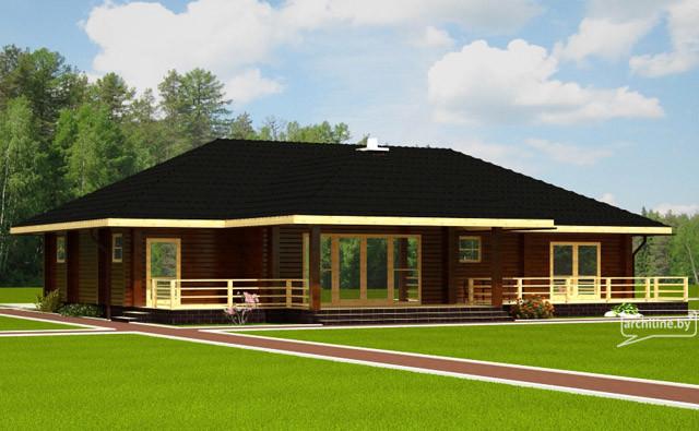un solo piano casa in legno 127 m