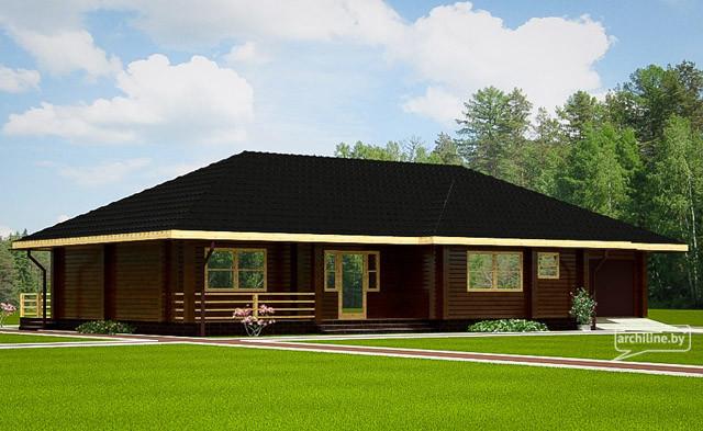 Un solo piano casa in legno 2- 127 m2