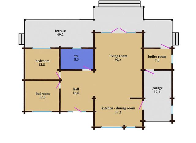 Un solo piano casa in legno 2 127 m2 for Acquistare piani casa