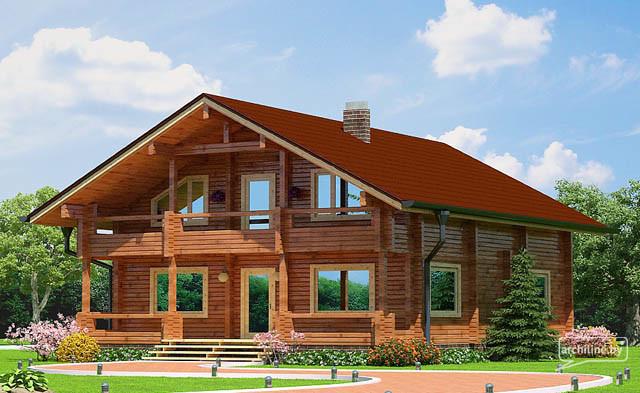 Un progetto case di legno fatte da legno lamellare 157 m2 for Grandi piani di casa di tronchi