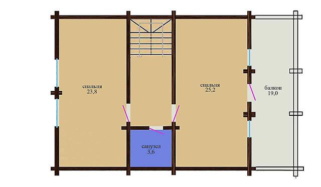 Un progetto case di legno fatte da legno lamellare 157 m2 for Case fatte da architetti