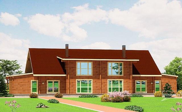 Una casa di legno per due famiglie germania 453 m2 for Piani di progettazione della casa 3d 4 camere da letto