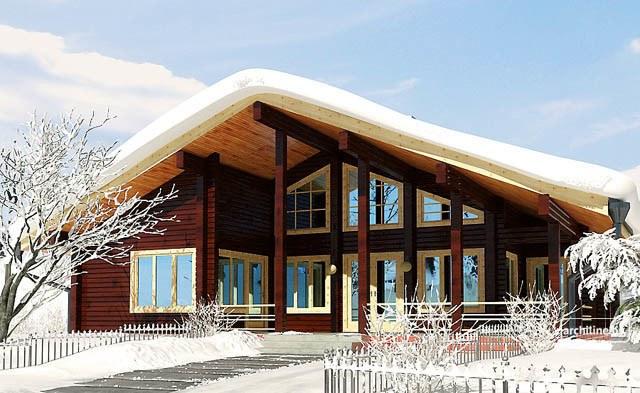 Casa in legno scandinavian 138 m2 for Piani di casa di log in stile ranch