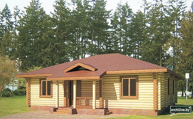 Una casa a due piani in legno profilato 152 m2 for 2 piani di casa in stile cottage