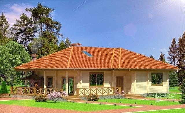 Una casa in legno lamellare 132 m2 for Bungalow in legno abitabili prezzi