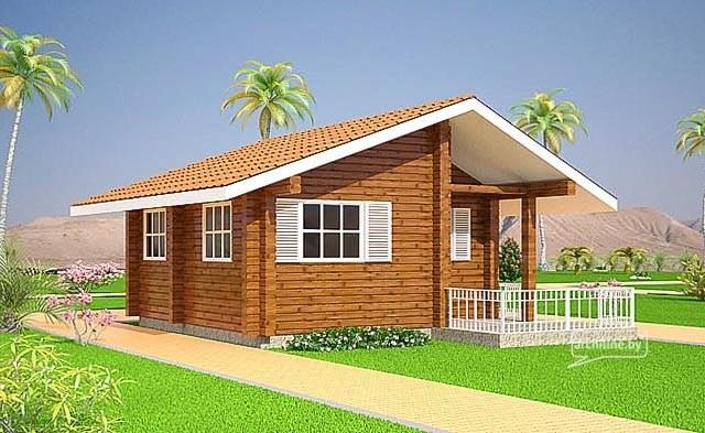 Case di legno camping 28 m2 for Case di legno rumene