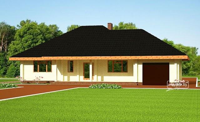 Un progetto della casa di legno 154 m for Un costo di costruzione della casa di legno