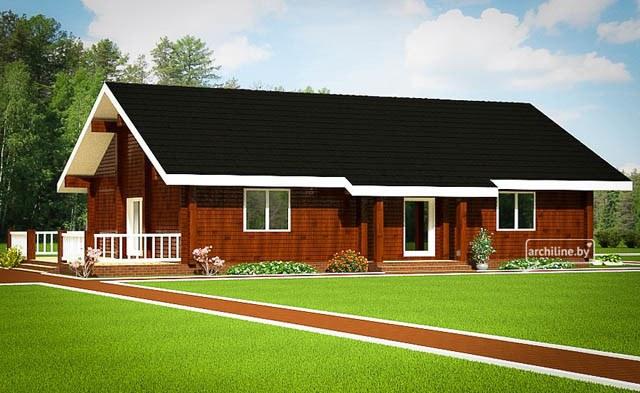 Casa di legno in stile francese 130 m2 for Piani di casa in stile francese