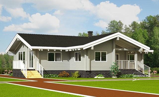 Casa in legno 115 m2 for Piani di casa francese in tudor