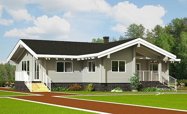case di legno fino a 200 m. Black Bedroom Furniture Sets. Home Design Ideas