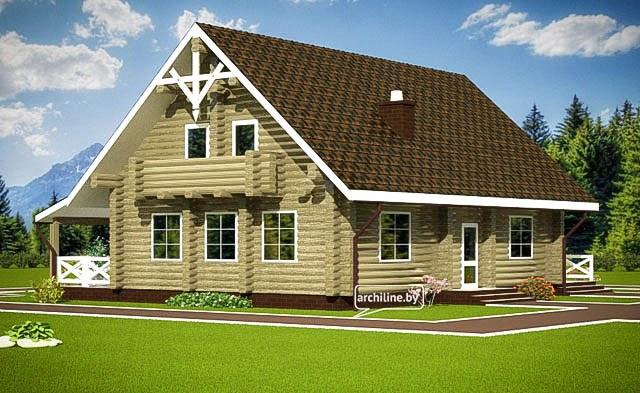 Casa in legno europea tradizionale 166 m2 for Costruire casa tradizionale