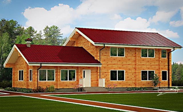 Casa in legno su due livelli 175 m2 for Case di ranch su due livelli