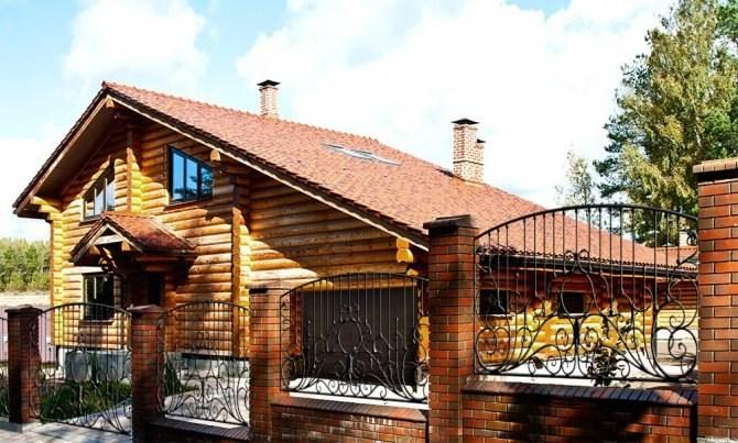 Casa di legno di tronchi russo 220 m for Case di tronchi ranch