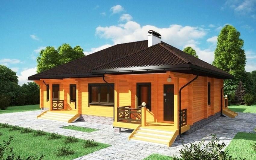 Una casa di campagna residenziale di legno dai tronchi 227 m2 for Progetti di case in campagna