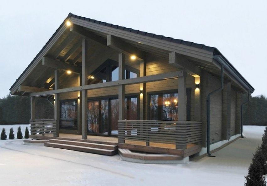 Casa fatta di legno lamellare per 207m2 for Stili di casa americana dispensa