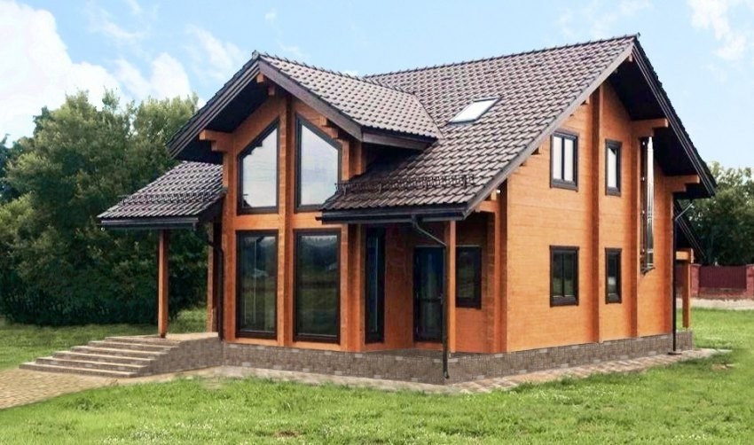 Una piccola casa di campagna di tronchi secchi 61m2 for Piani di casa in stile hacienda